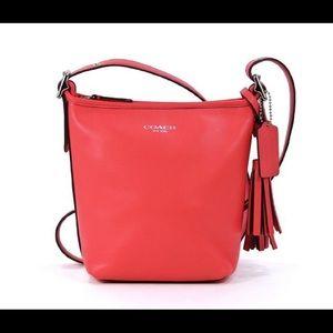Coach Legacy Red Mini Duffle Bucket Bag